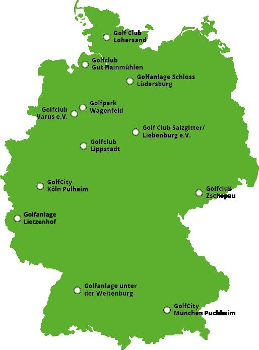 Greenfee-Partneranlagen DGM Deutsche Golf Marketing